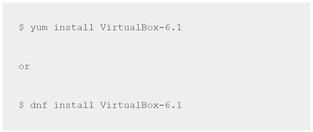 VirtualBox 6.1 Linux