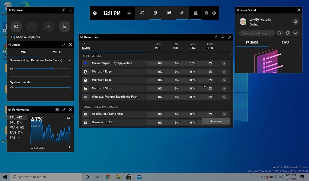 Resources monitor Windows 10