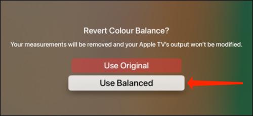 apple tv color balance