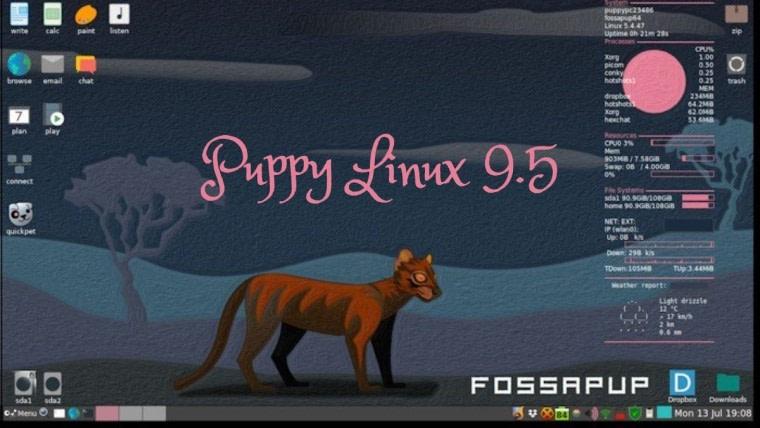Puppy Linux 9.5: Κυκλοφόρησε μετά από 2 χρόνια καθυστέρηση