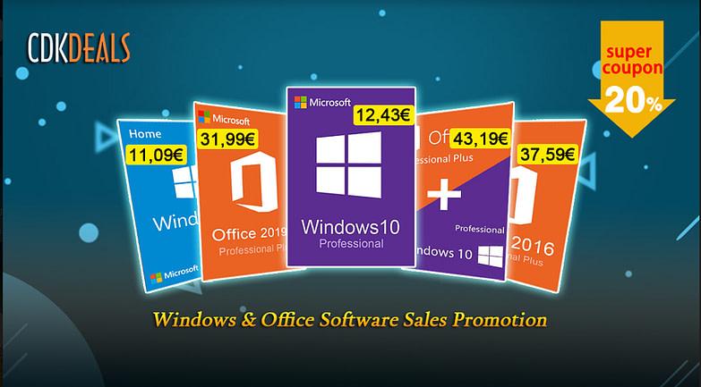 Εκπτώσεις Τιμών: Windows 10 Pro με 12.43€ και πολλές προσφορές!