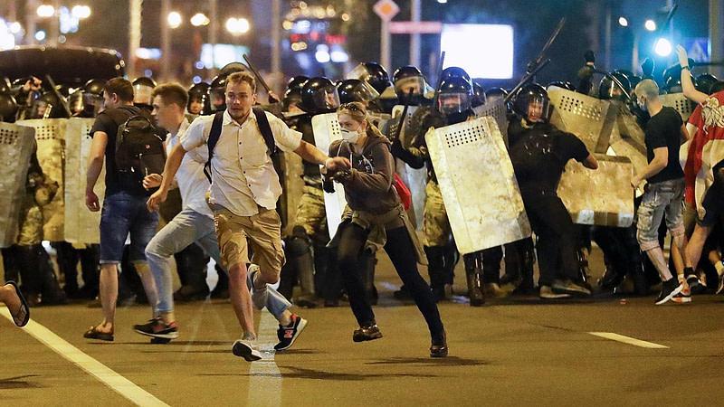 διαδηλωτές Λευκορωσία