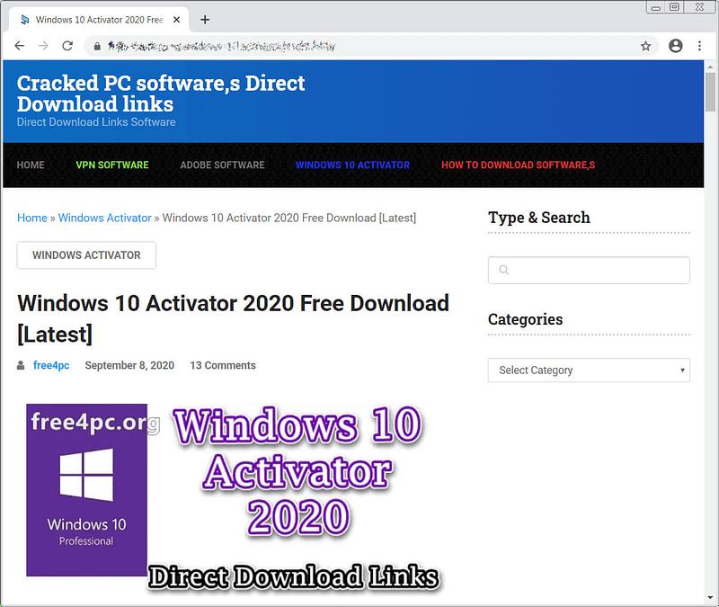 fake software crack sites