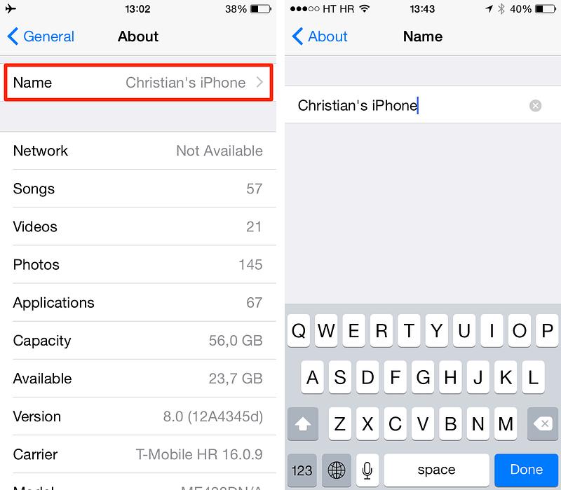 iPhone: Πώς να κρύψετε το μοναδικό όνομα της συσκευής σας από apps