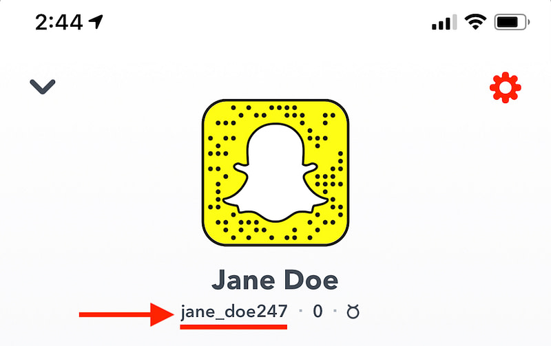 Snapchat  username