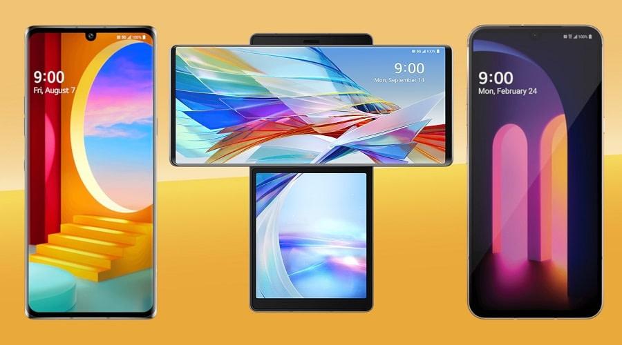 LG smartphones