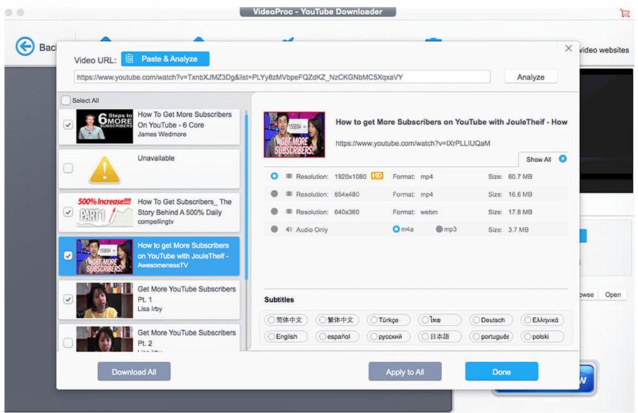 VideoProc All-in-one 4K Video: Εύκολο Convert, Download και Edit