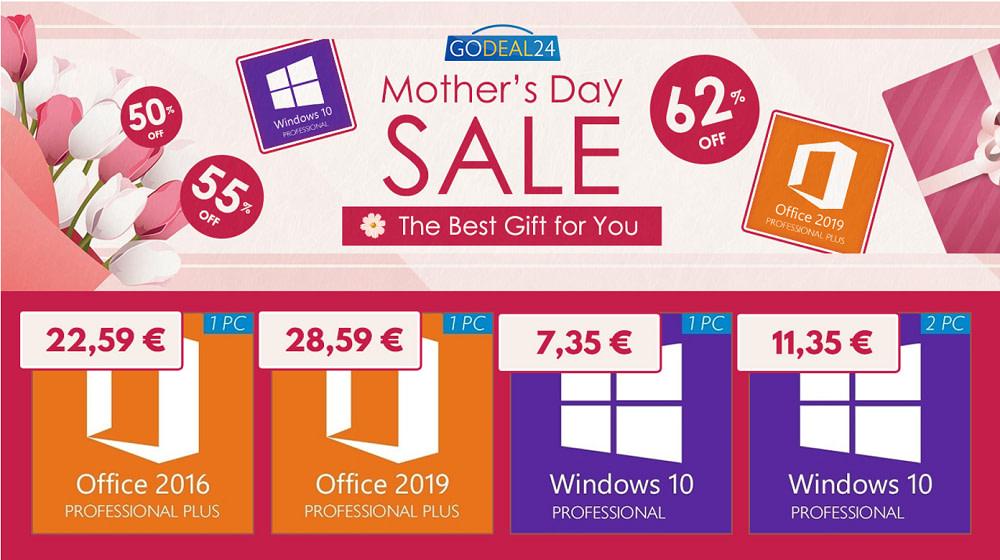 Mother's Day: Windows 10 Pro με 7.35€ για την Ημέρα της Μητέρας