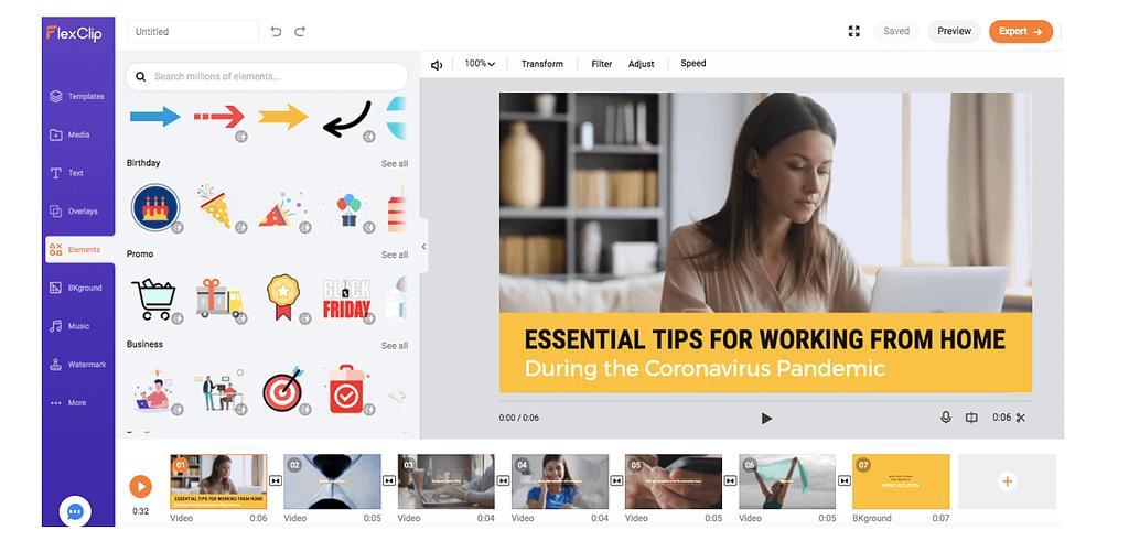 FlexClip 2.7 Online Video Maker: Νέες δυνατότητες και αλλαγές