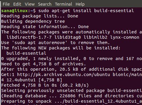 Linux πρόγραμμα σε C