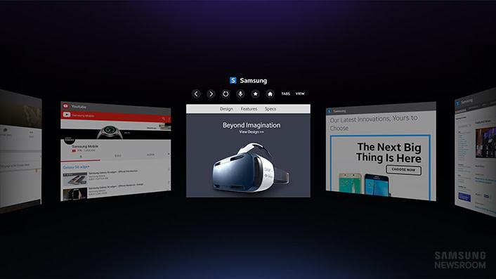 Internet for Gear VR