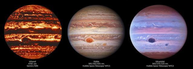 NASA εικόνες Giant Red Spot Δία