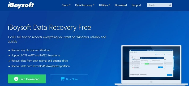 Recover lost data with iBoysoft software