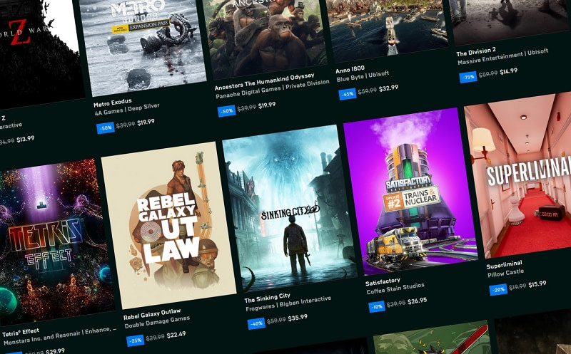 Epic Games Store PS Plus Xbox Live Gold