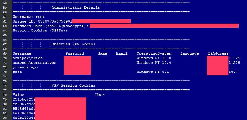 Pulse Secure VPN servers - διαρροή