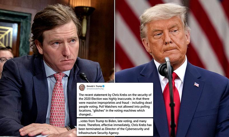 Ο Trump απέλυσε τον Διευθυντή της CISA, Christopher Krebs!