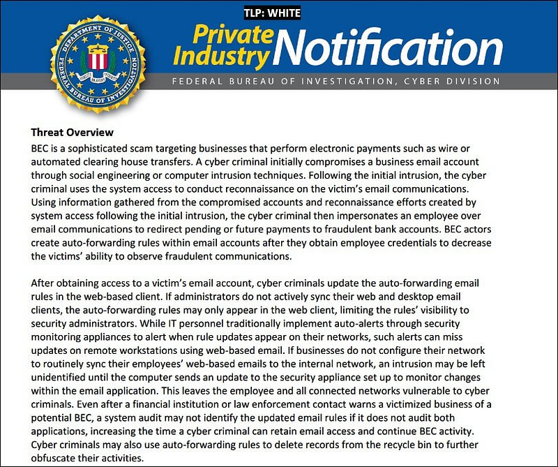 FBI: Χάκερς καταχρώνται τους κανόνες προώθησης email για επιθέσεις!