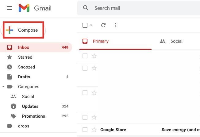αποστολή email Gmail