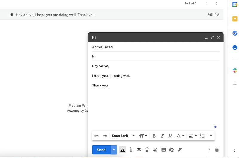αποστολή email Gmail - προγραμματισμός