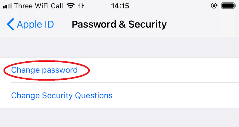 iPhone: Πώς να αλλάξετε τον κωδικό πρόσβασης του Apple ID