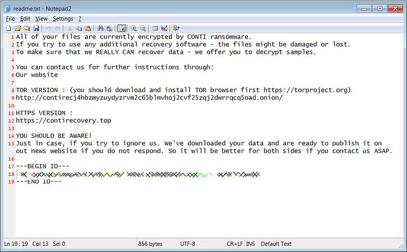 Conti ransomware Υπουργείο Υγείας της Ιρλανδίας