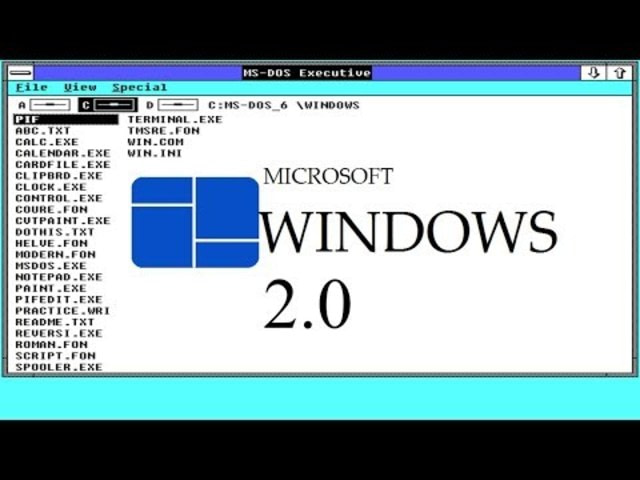 Microsoft Windows evolution - Windows 2.0