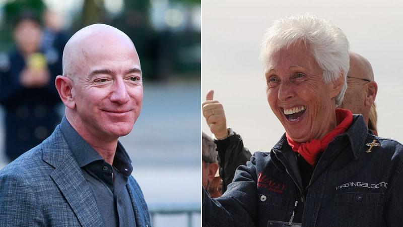 Wally Funk Jeff Bezos διάστημα