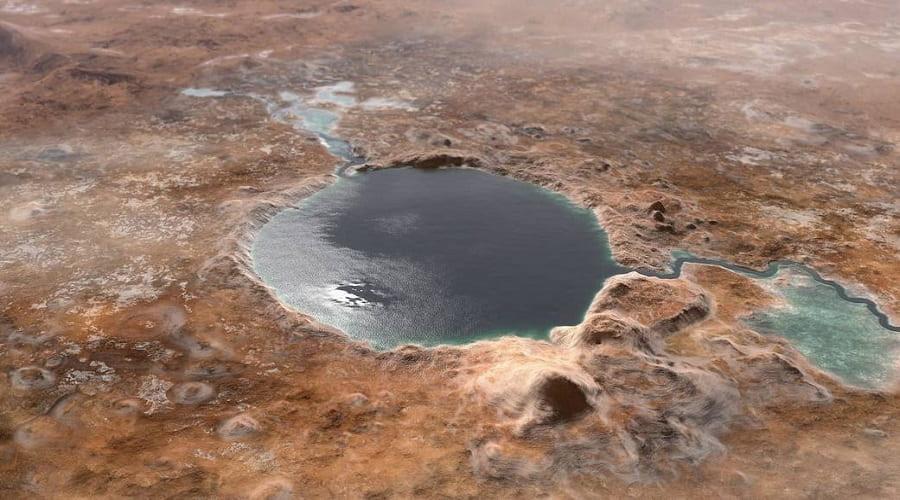Άρη νερό λίμνη