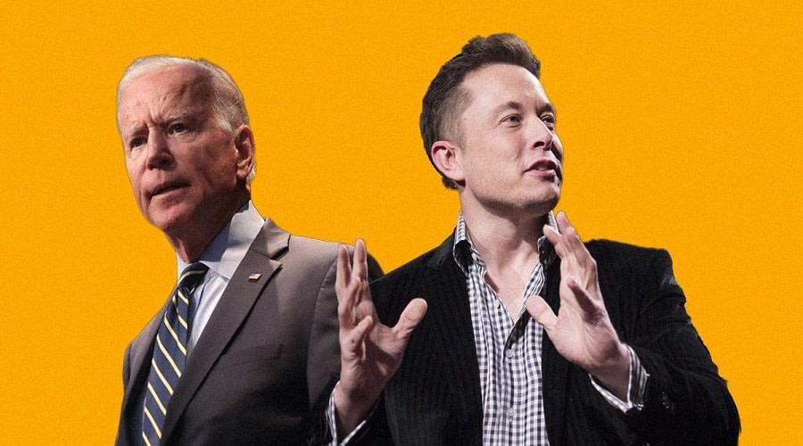 SpaceX Musk Biden