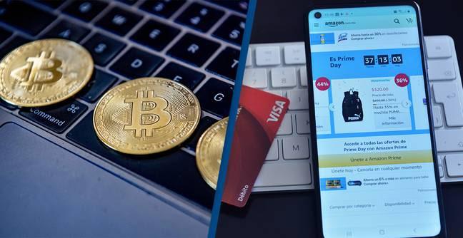 Bitcoin Amazon κρυπτονομίσματα